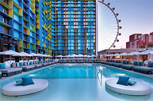 THE POOL AT THE LINQ LAS VEGAS