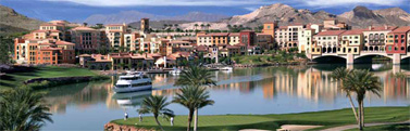 Lake Las Vegas with the village in the background...