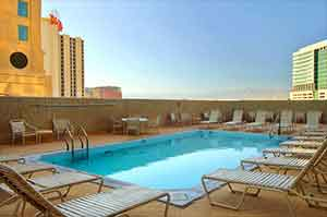 The California Hotel's rooftop pool